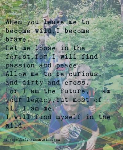 let me be wild